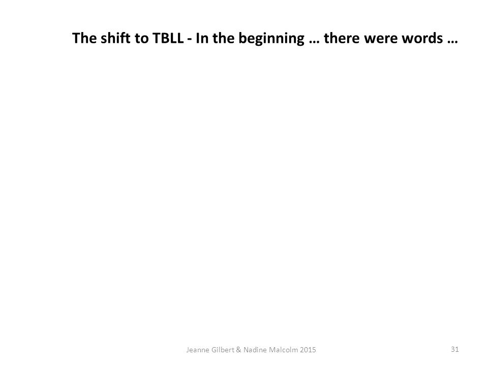Scaffolding TBLL.