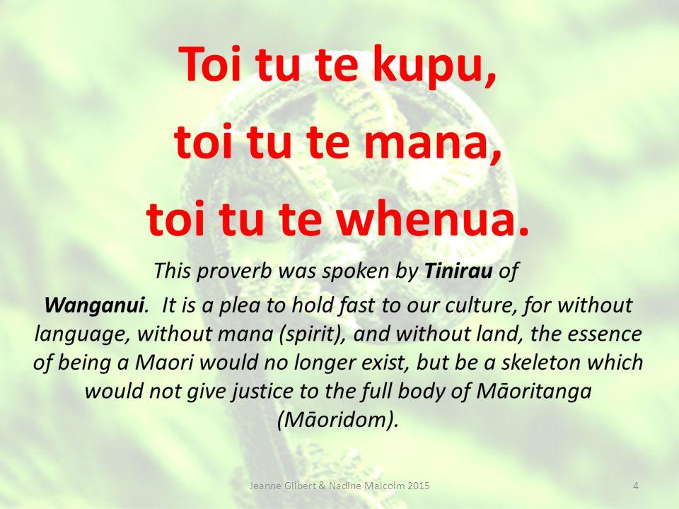 Nadine Malcolm Lead Teacher te reo Māori nadinem@hukanui.school.nz Jeanne Gilbert & Nadine Malcolm March 2015 3