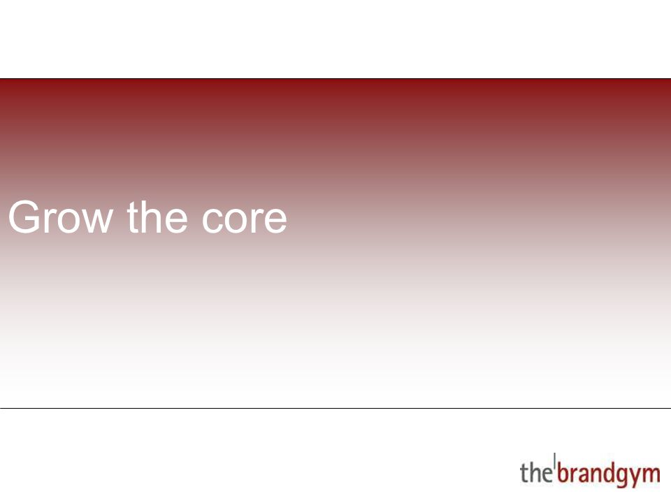 2 May, 2015 Grow the core