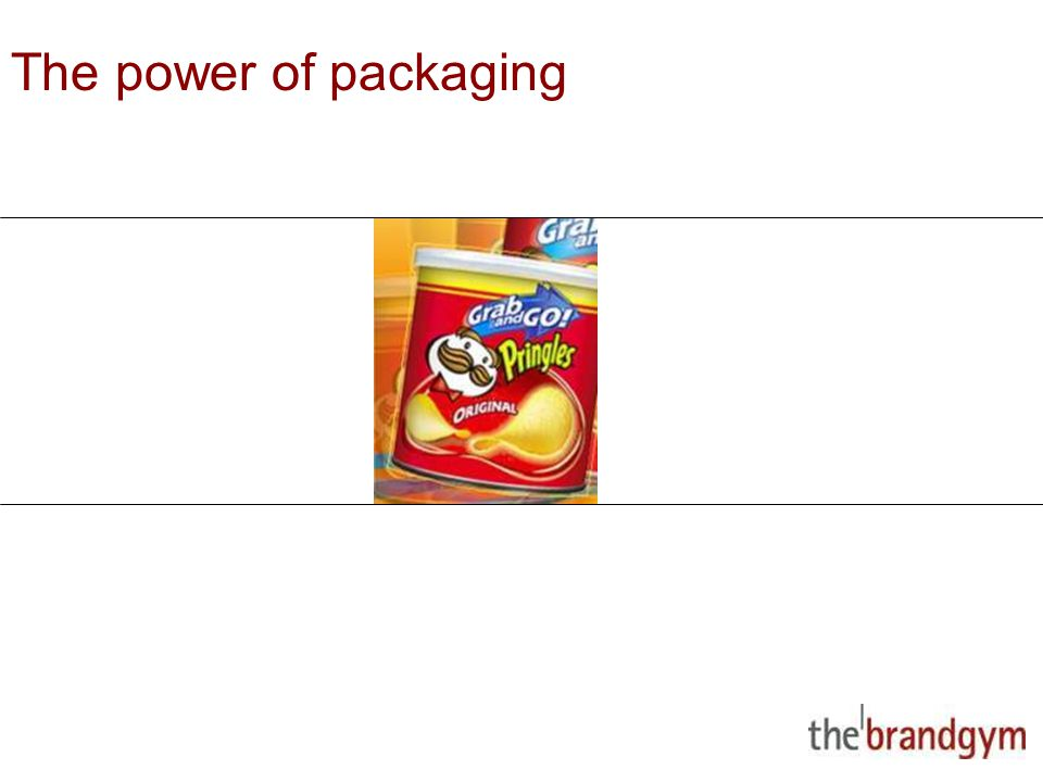 2 May, 2015 The power of packaging