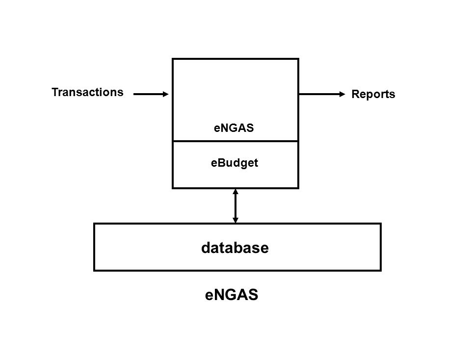 eNGAS eBudget database eNGAS Transactions Reports