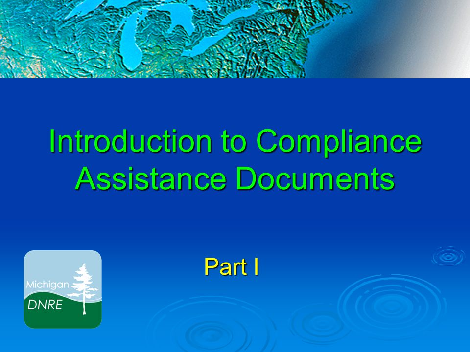 Compliance Assistance Documents  Morning Overview: Discharge Point Location Discharge Point Location SWPPI/SWMP – Standard Requirements SWPPI/SWMP – Standard Requirements Alternatives Alternatives Scope of the SWPPI/SWMP Scope of the SWPPI/SWMP Public Education Program Public Education Program Pollution Prevention/Good Housekeeping Pollution Prevention/Good Housekeeping