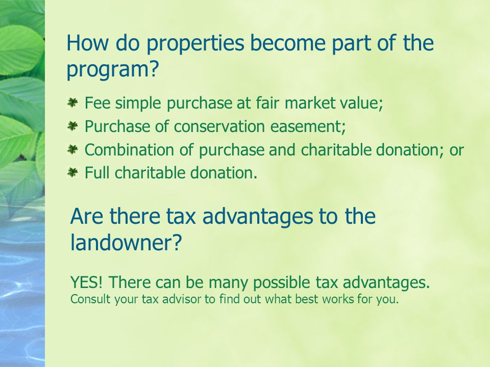 How do properties become part of the program.