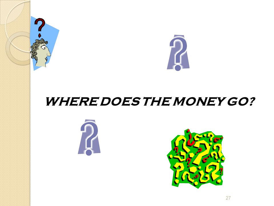 WHERE DOES THE MONEY GO 27