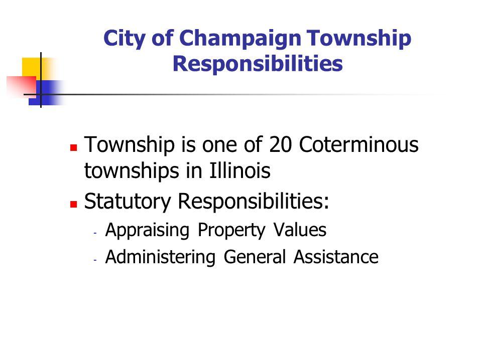 CITY OF CHAMPAIGN TOWNSHIP Advisory Referendum February 5, 2008