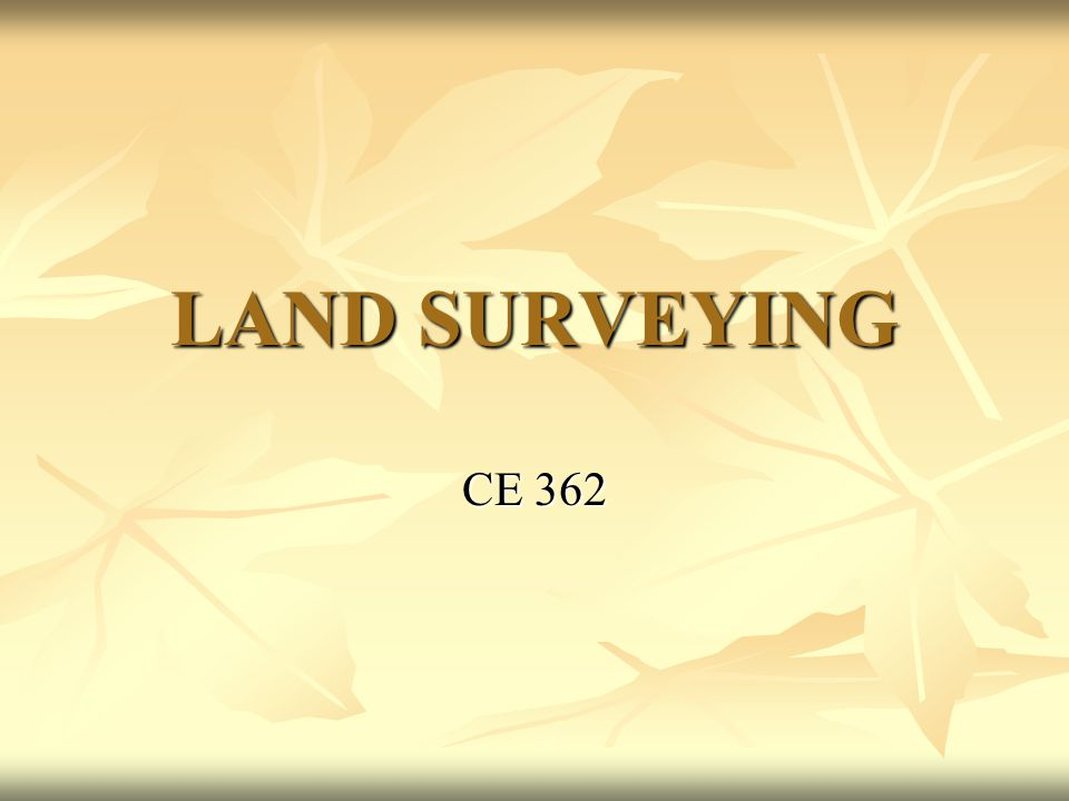 Surveys in Illinois No part of the public lands in Illinois were surveyed in full compliance with land acts.