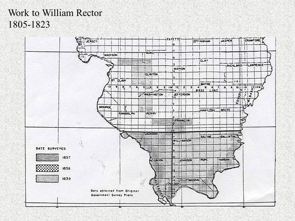 Work to William Rector 1805-1823