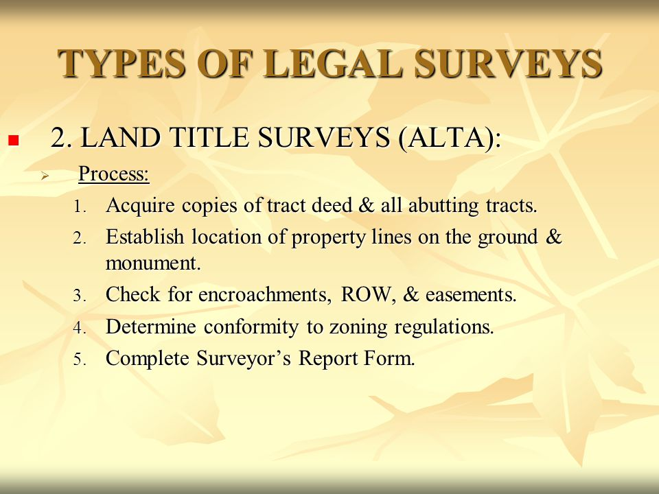 Resurveys of Sectionalized Lands Generally once completed these resurveys replace the original.