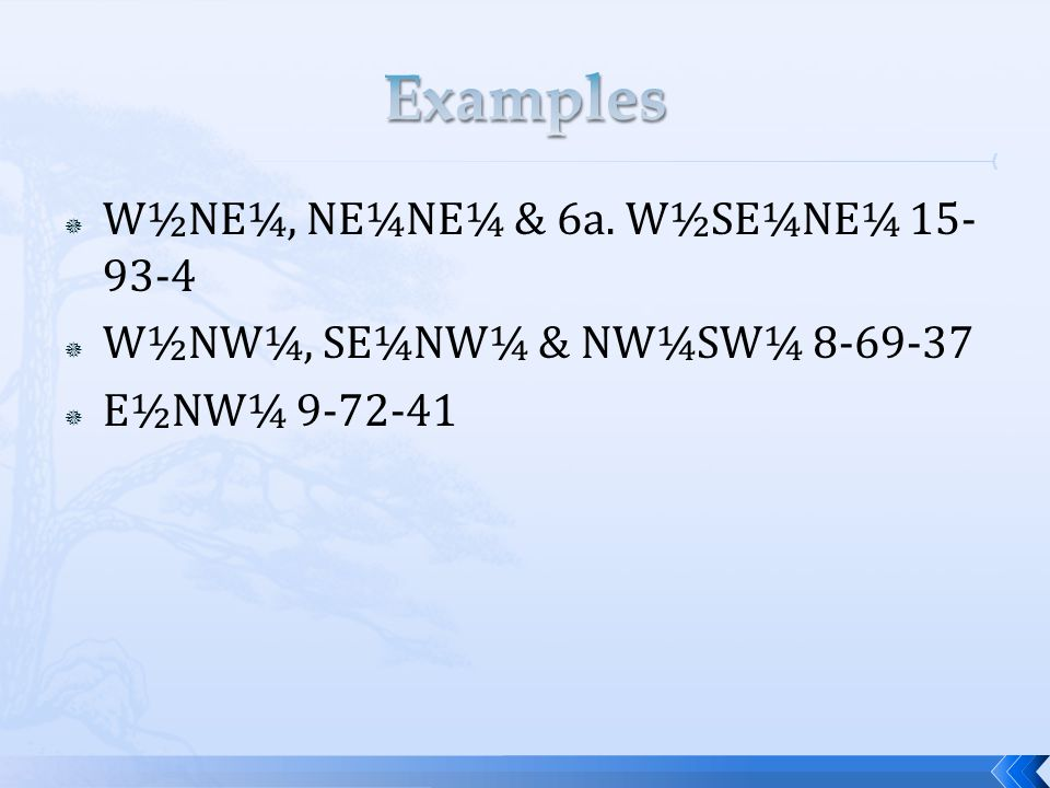  W½NE¼, NE¼NE¼ & 6a. W½SE¼NE¼ 15- 93-4  W½NW¼, SE¼NW¼ & NW¼SW¼ 8-69-37  E½NW¼ 9-72-41