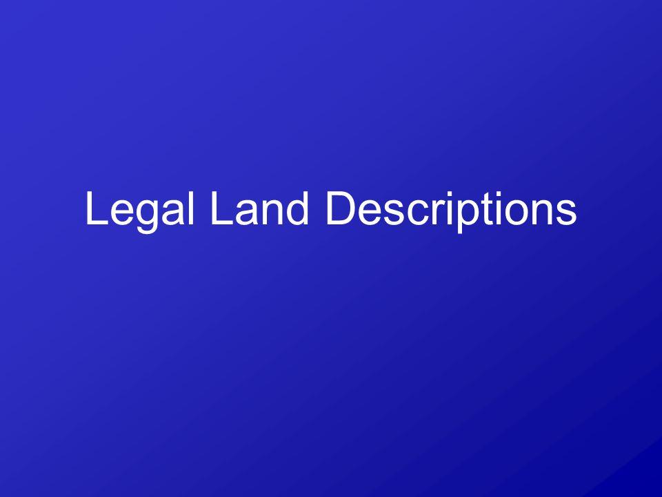 Legal Land Descriptions
