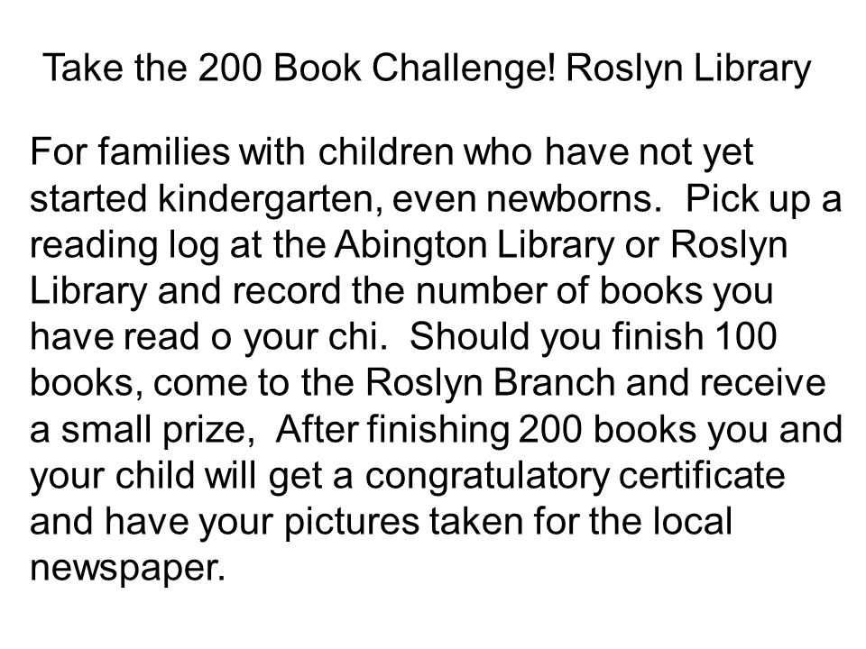 Take the 200 Book Challenge.
