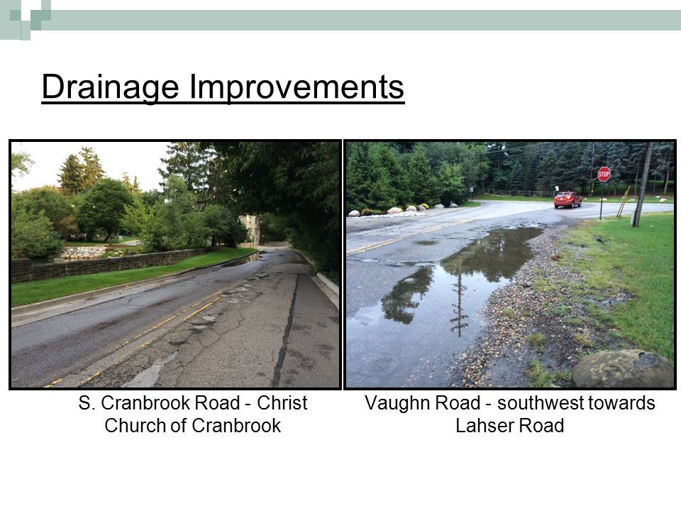Drainage Improvements S.