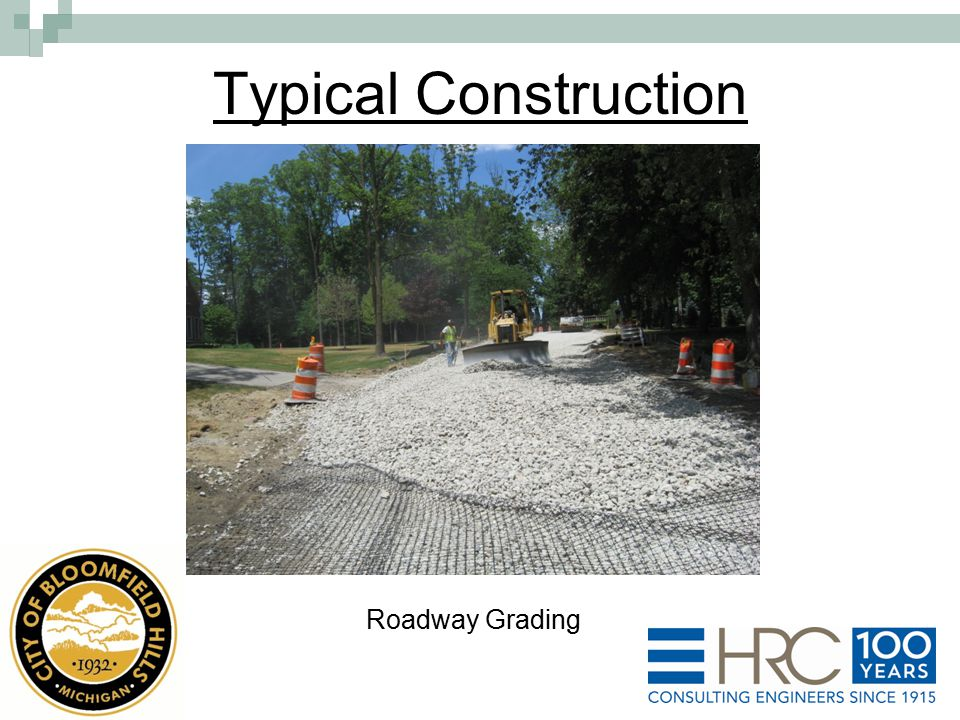 Roadway Grading Typical Construction