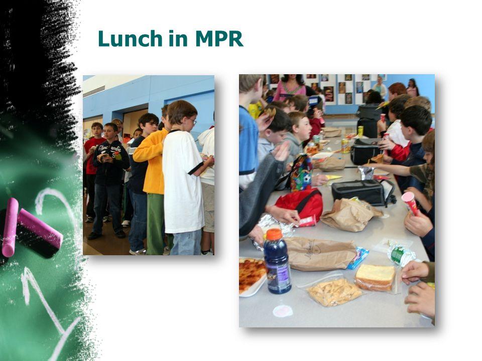 Lunch in MPR