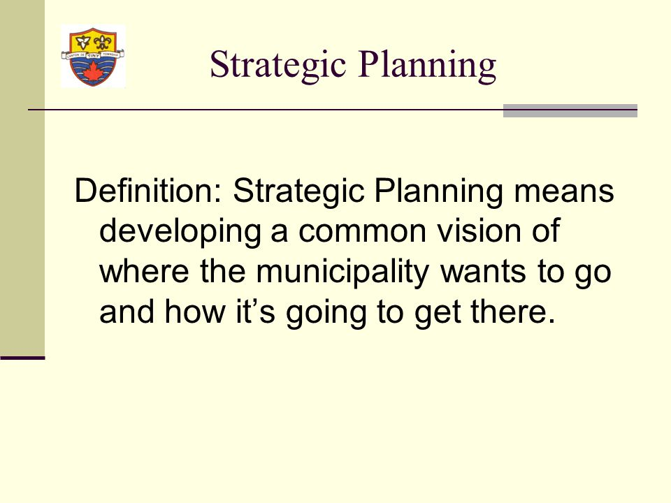 Strategic Focus Areas Measures Goals Initiatives What Who When Strategic Planning Exercise