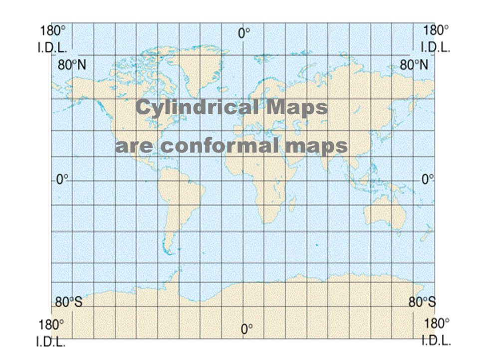 Cylindrical Maps are conformal maps