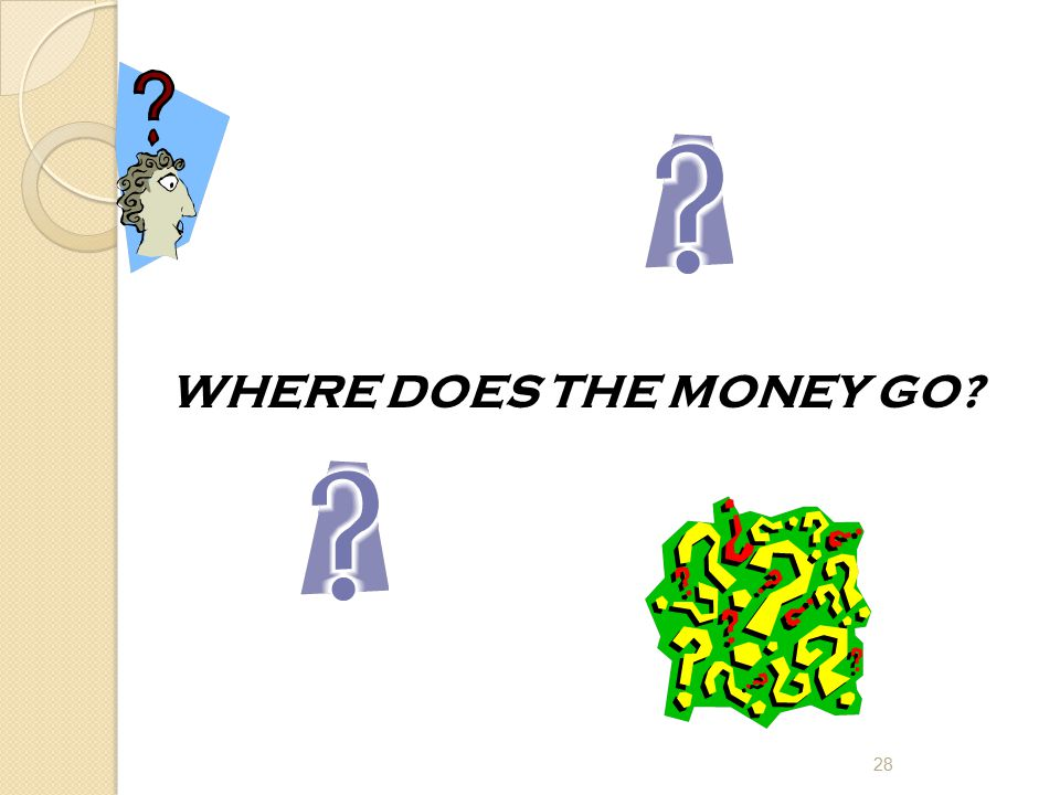 WHERE DOES THE MONEY GO? 28