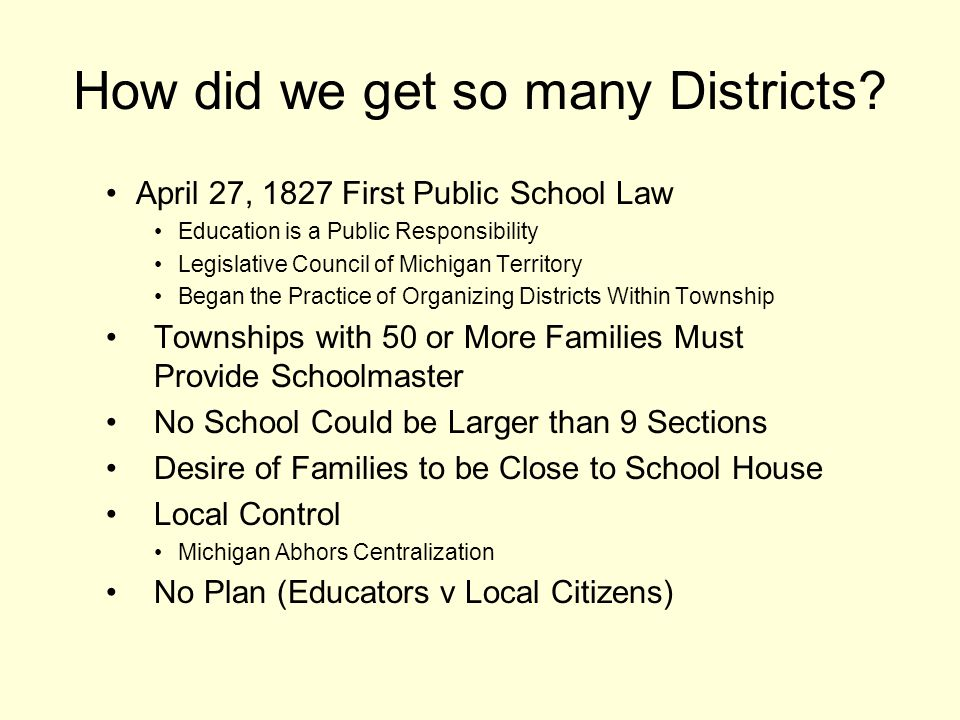 How did we get so many Districts.