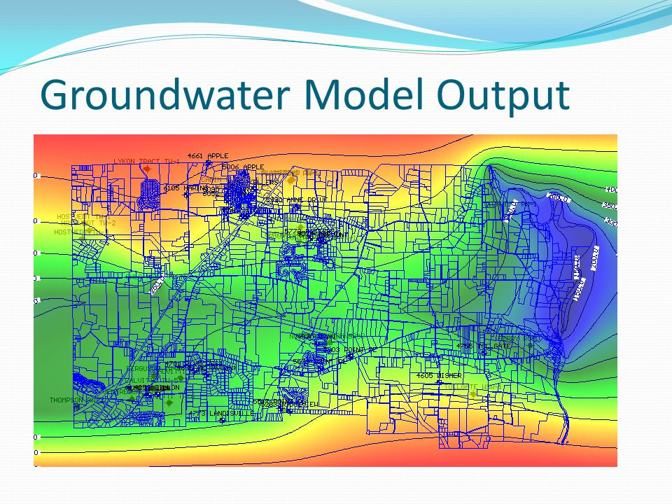 Groundwater Model Output