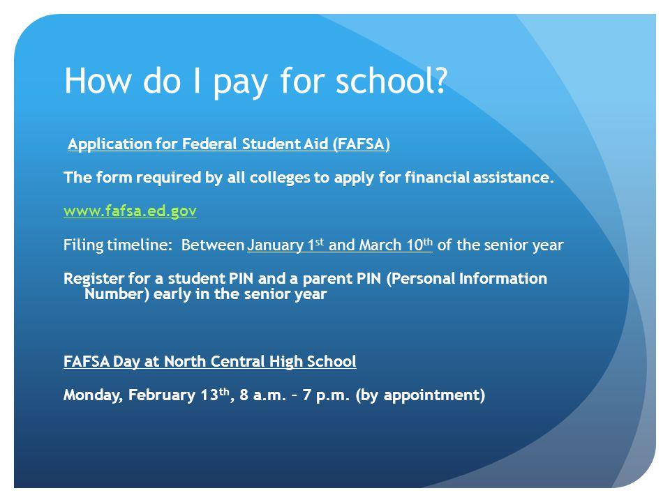 How do I pay for school.