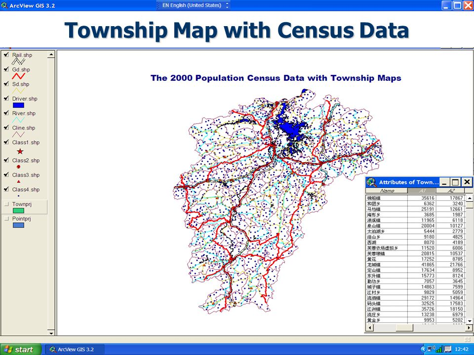 Township Map with Census Data