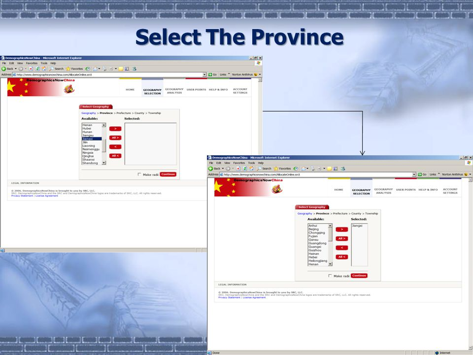 Select The Province
