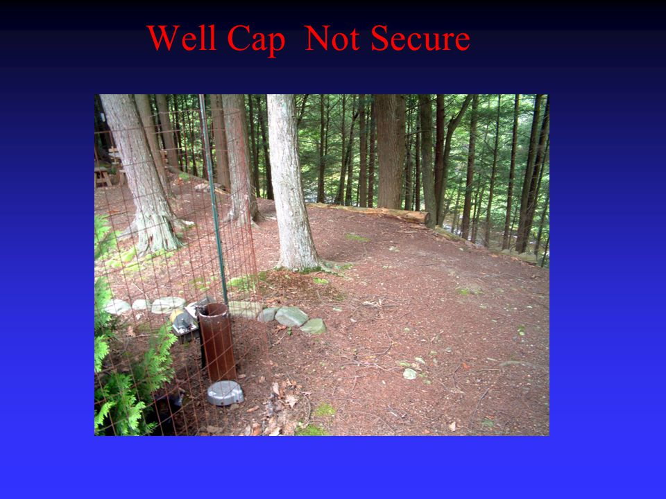 Well Cap Not Secure