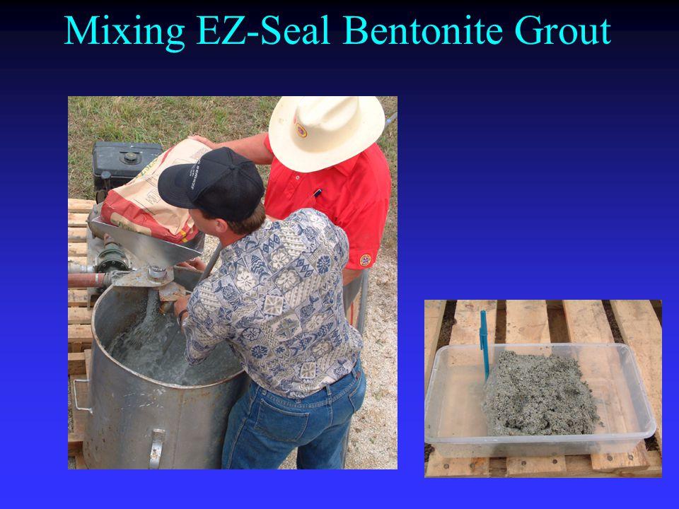 Mixing EZ-Seal Bentonite Grout