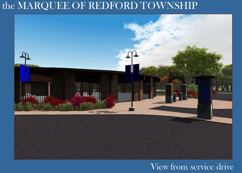 the MARQUEE OF REDFORD TOWNSHIP View from service drive