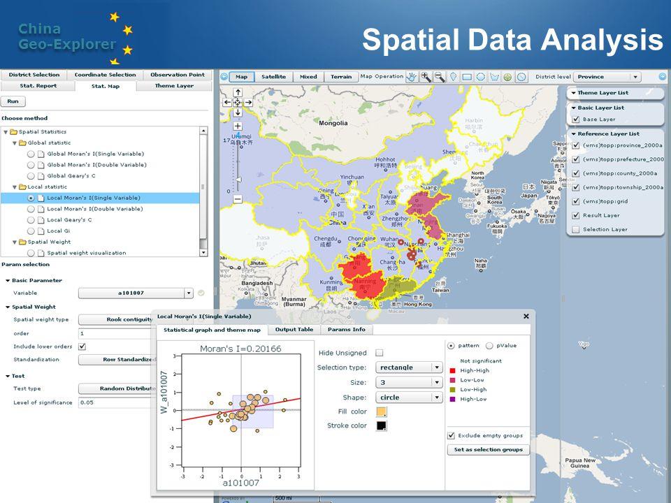 China Geo-Explorer China Geo-Explorer Spatial Data Analysis