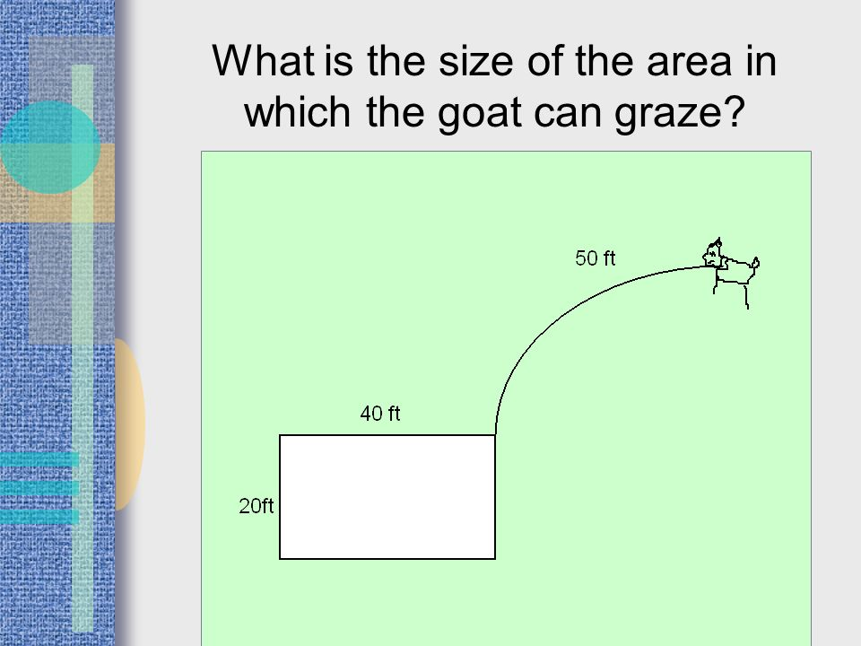 What is the size of the area in which the goat can graze