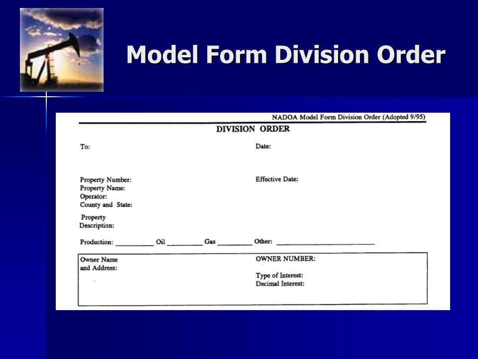 Model Form Division Order