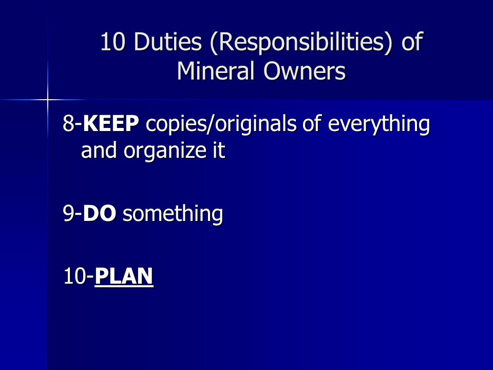 Types of Ownership: Producing Working Interest (WI) Working Interest (WI) Investors in the well who share the actual costs incurred in drilling and completing Production income is distributed proportionately –Overriding Royalty Interest (ORRI) Carved from the WI; non-cost bearing Carved from the WI; non-cost bearing