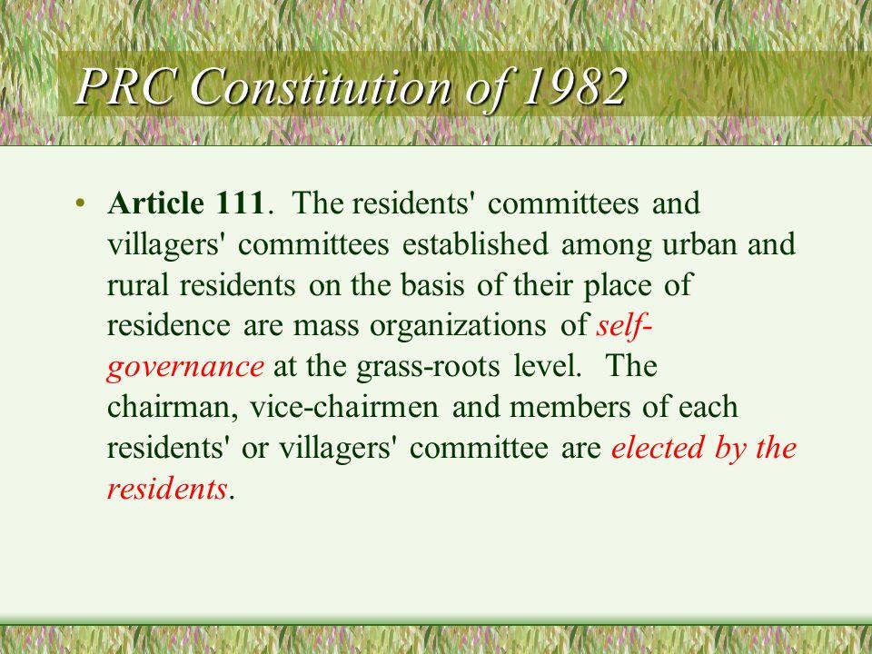 PRC Constitution of 1982 Article 111.
