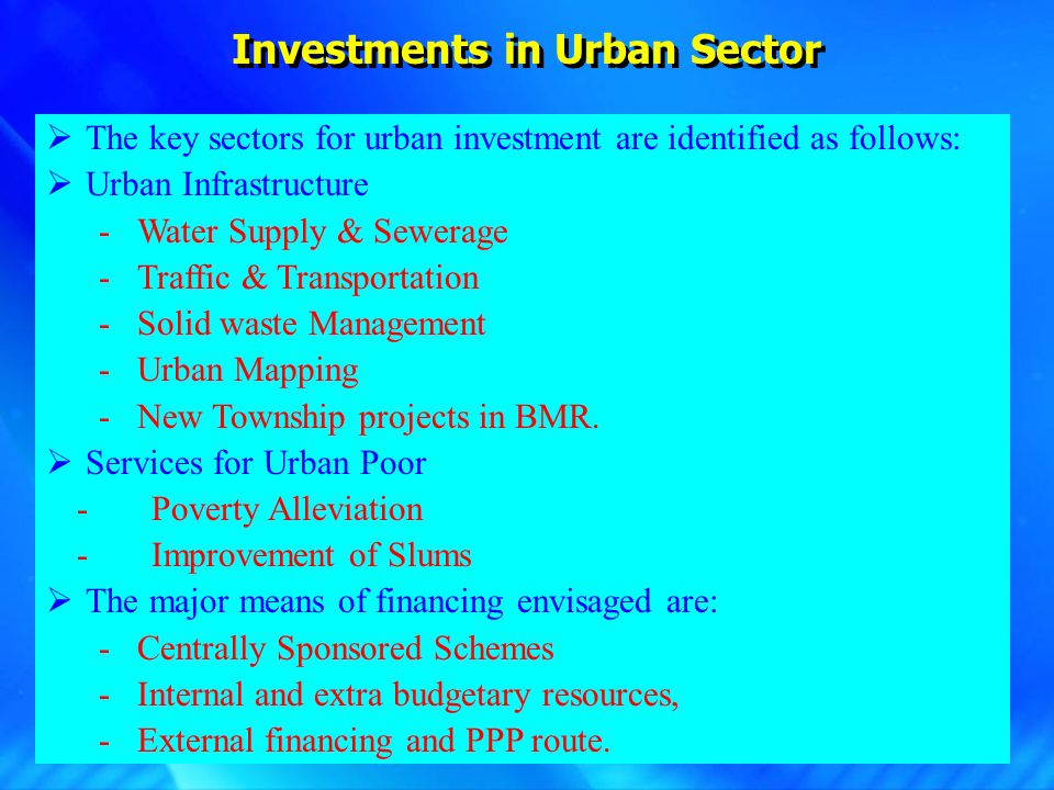 Investments – Devolution of State Finance Commission Grants to ULBs.