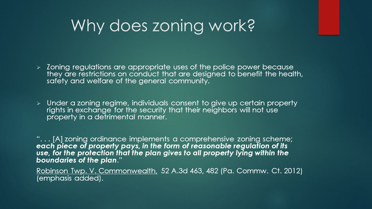 Why does zoning work.