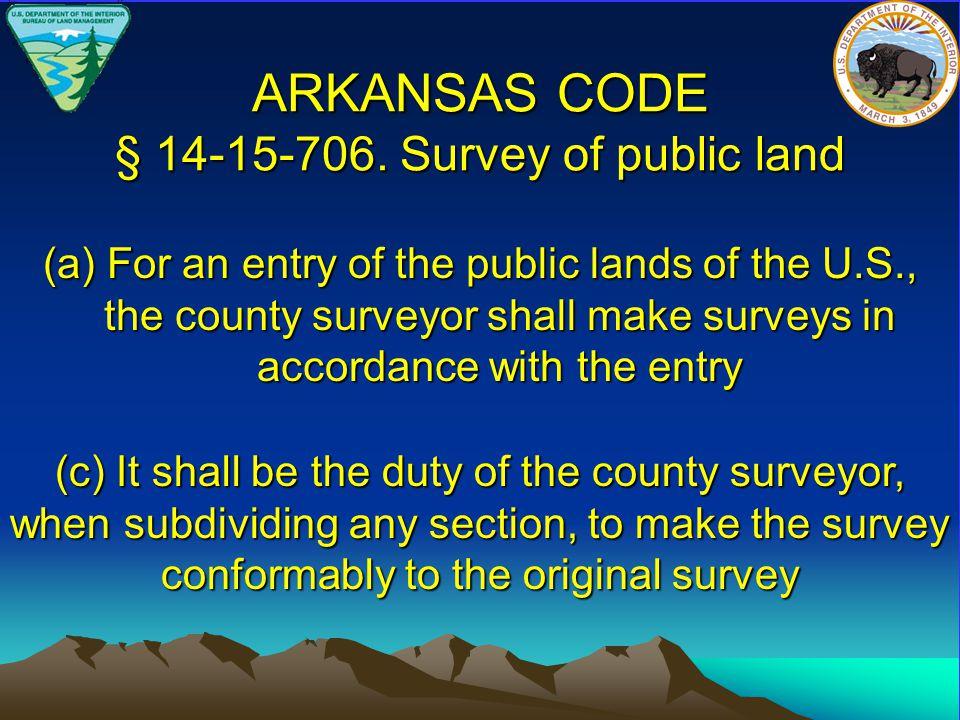 ARKANSAS CODE § 14-15-706.