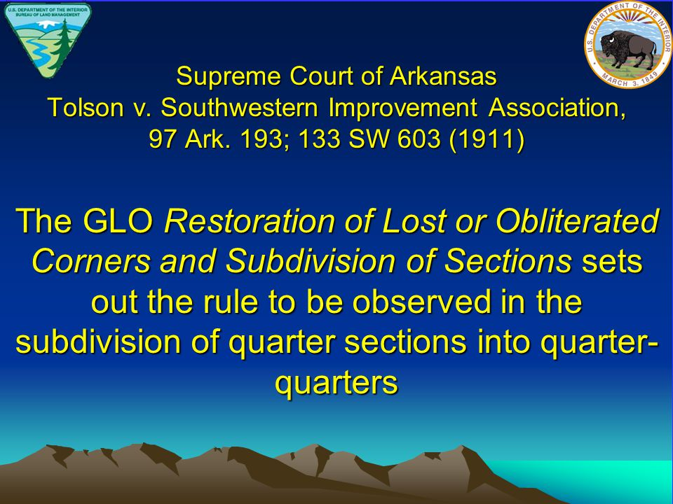 Supreme Court of Arkansas Tolson v. Southwestern Improvement Association, 97 Ark.