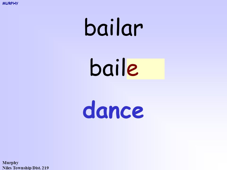 Murphy Niles Township Dist. 219 bailar bailoe dance MURPHY