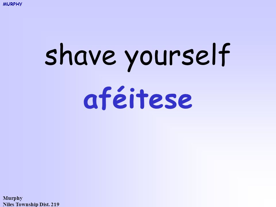 Murphy Niles Township Dist. 219 shave yourself aféitese MURPHY
