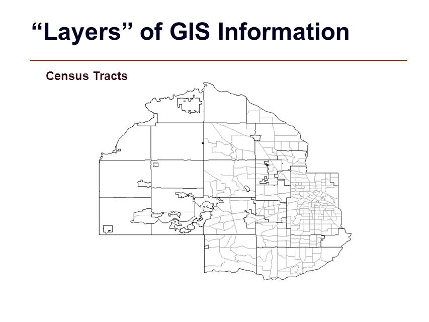 """""""Layers"""" of GIS Information Census Tracts"""