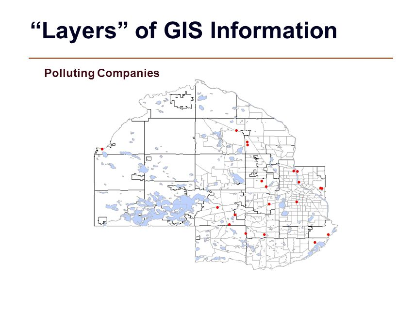 """""""Layers"""" of GIS Information Polluting Companies"""
