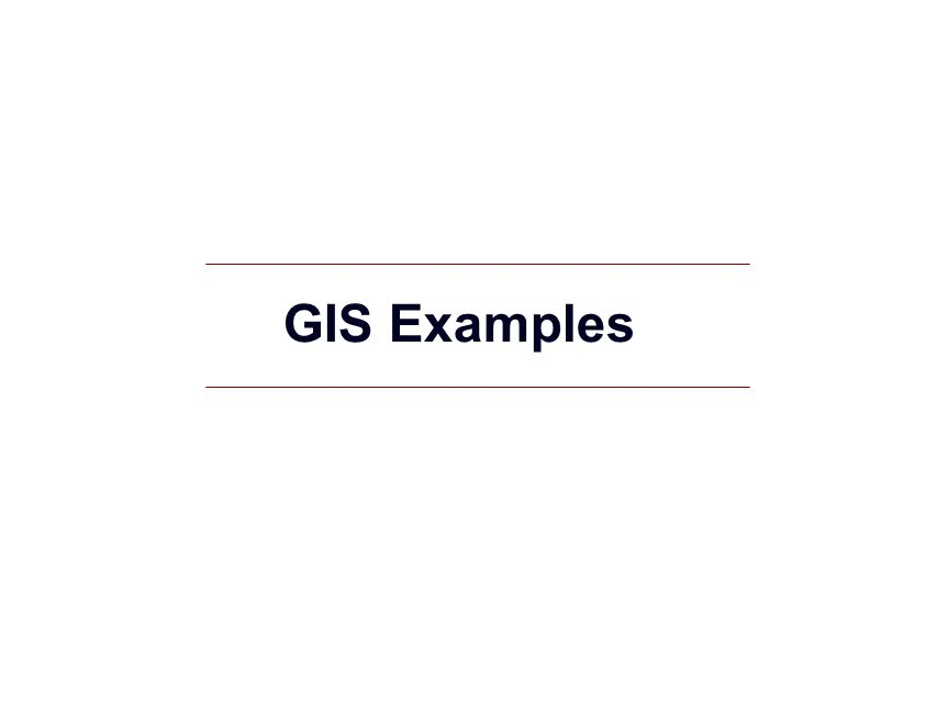 GIS Examples
