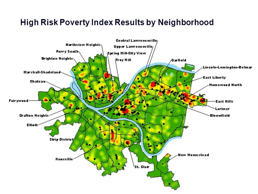 High Risk Poverty Index Results by Neighborhood