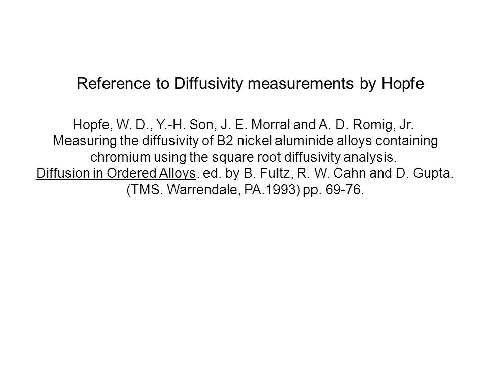 Hopfe, W.D., Y.-H. Son, J. E. Morral and A. D. Romig, Jr.