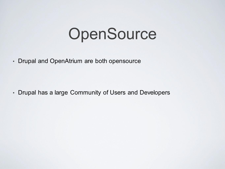 Features Drupal core provides a stable API foundation.