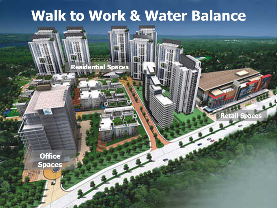 © Confederation of Indian Industry ® Residential Spaces Office Spaces Retail Spaces Walk to Work & Water Balance