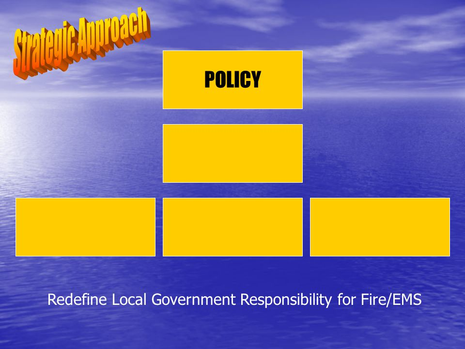 POLICY Redefine Local Government Responsibility for Fire/EMS