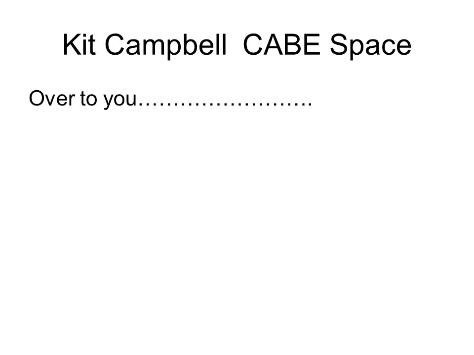Kit Campbell CABE Space Over to you…………………….