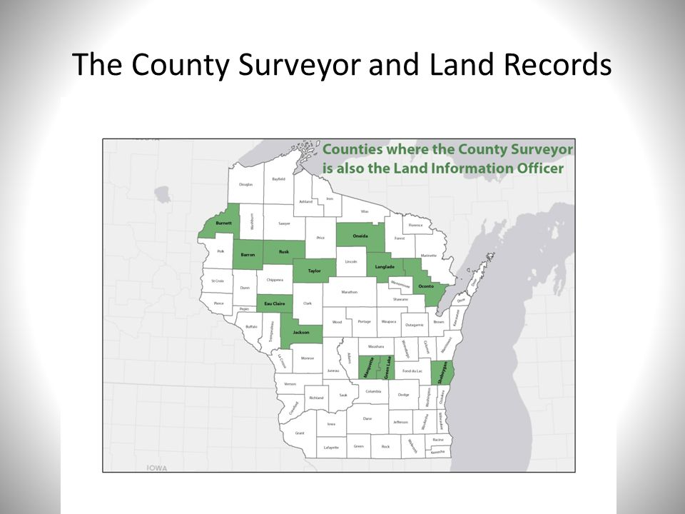 The County Surveyor and Land Records